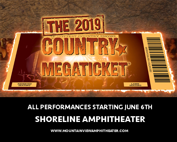 2019 Country Megaticket Tickets (Includes All Performances) at Saratoga Performing Arts Center