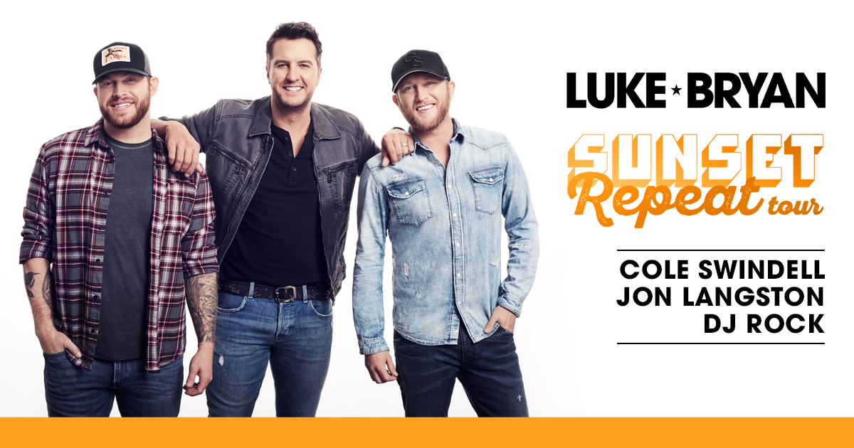 Luke Bryan, Cole Swindell & Jon Langston at Saratoga Performing Arts Center