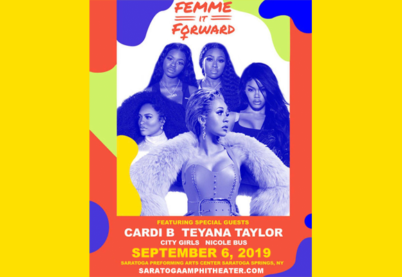 Cardi B, Teyana Taylor & City Girls at Saratoga Performing Arts Center