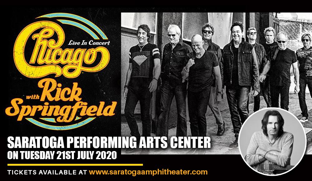Chicago - The Band & Rick Springfield at Saratoga Performing Arts Center