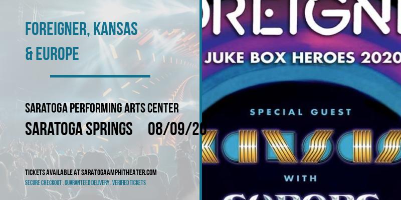 Foreigner, Kansas & Europe at Saratoga Performing Arts Center