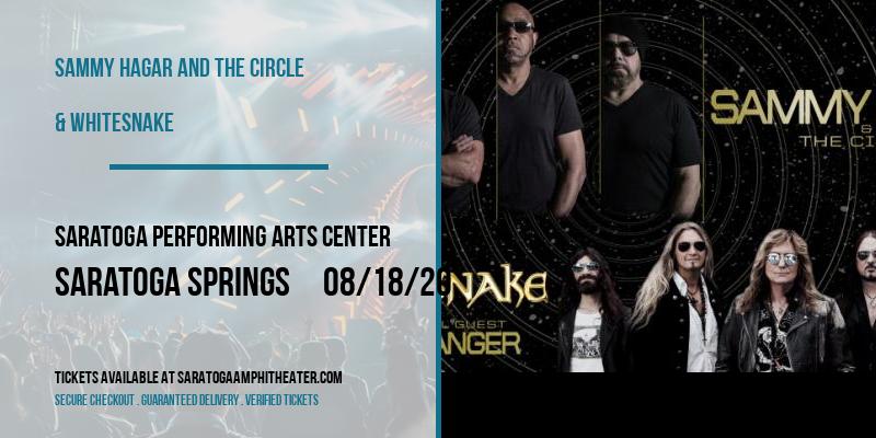 Sammy Hagar and the Circle & Whitesnake at Saratoga Performing Arts Center