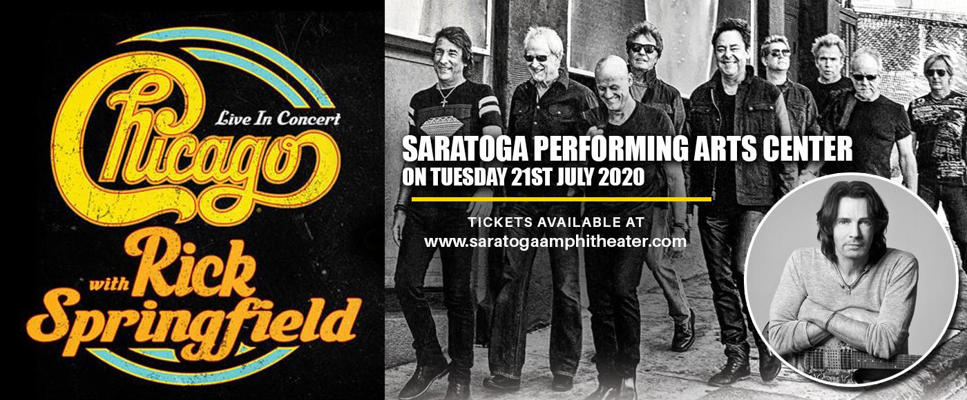 Chicago - The Band & Rick Springfield [POSTPONED] at Saratoga Performing Arts Center