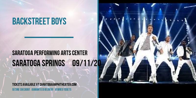 Backstreet Boys at Saratoga Performing Arts Center